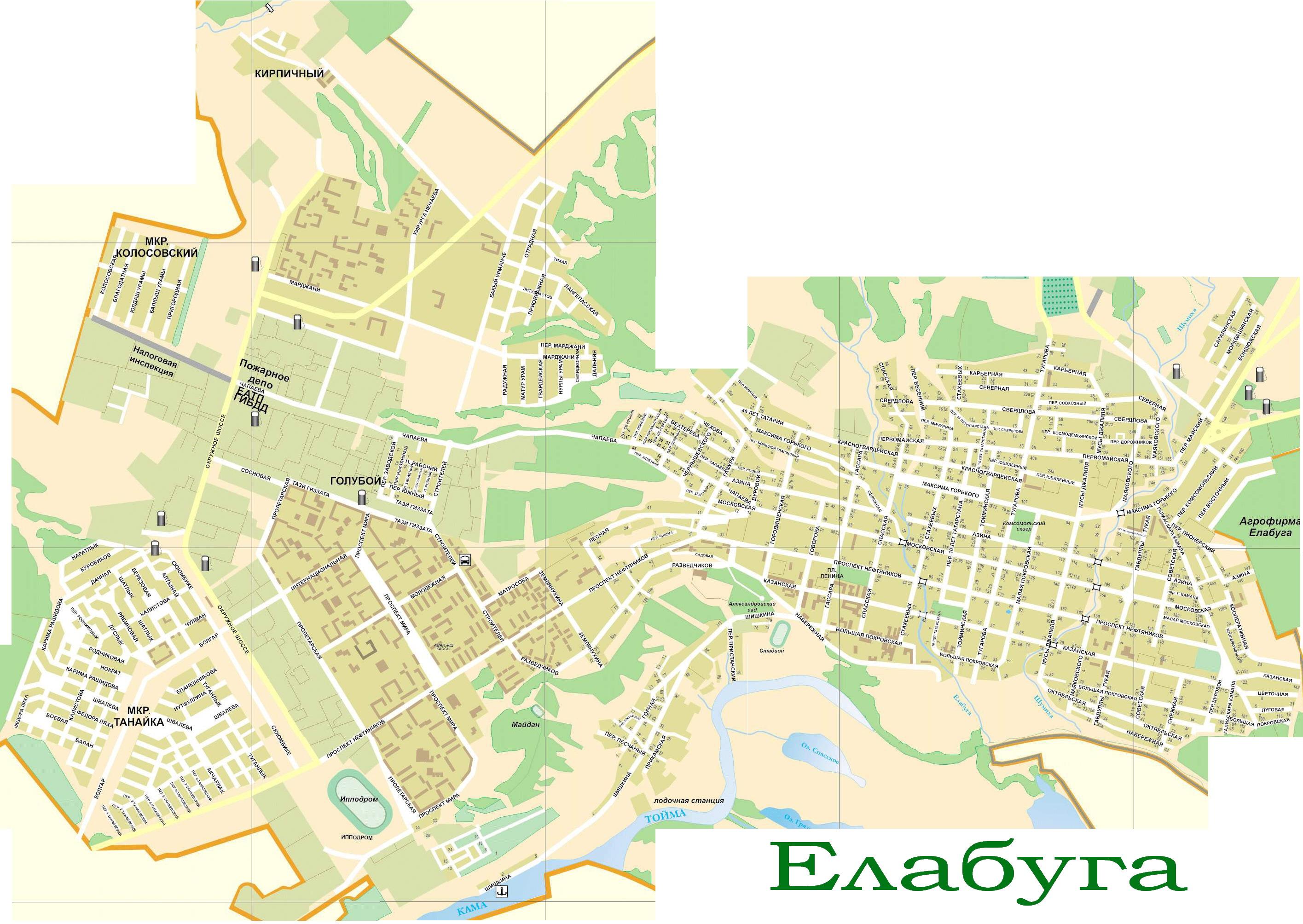 Карта Елабуги С Улицами И Домами 3д