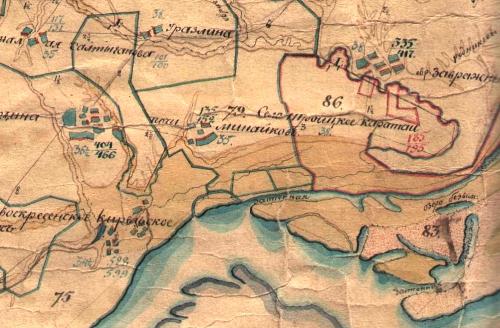 Казанской губернии Карта